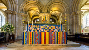 Romsey Abbey Altar Fotografia Stock