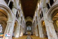 Romsey Abbey Nave y techo Imagen de archivo
