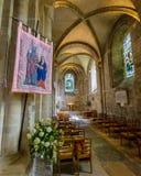 Romsey Abbey St Anne Chapel y pasillo del sur del coro Foto de archivo libre de regalías