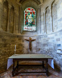 Romsey Abbey St George Chapel Foto de archivo libre de regalías