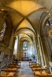 Romsey Abbey St George Chapel y pasillo del norte del coro Fotografía de archivo libre de regalías