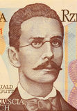 Romuald Traugutt. On 20 Zlotych 1982 Banknote from Poland. General, war hero and commanded of the ''january uprising Stock Photography
