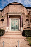 Romulo Temple at Foro Romano - Roma - Italy Stock Images