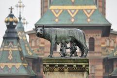 Romulus和remus雕象 库存照片