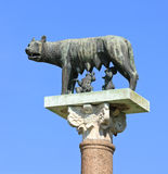 Romulus, Remus and Capitoline wolf, Pisa - Italy Royalty Free Stock Photo