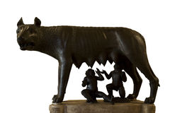 Romulus and remus rome symbol Royalty Free Stock Photos