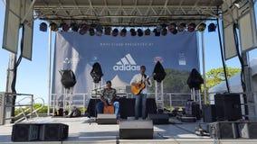 Ron Artis II & burza wykonujemy na scenie podczas dnia conce Zdjęcie Stock