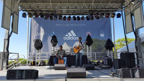 Ron Artis II & Thunderstorm performs on stage during a day conce Stock Photo