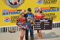 Ron Capps and Traxxas Girls Royalty Free Stock Photo