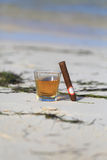 Rum and cigar Royalty Free Stock Image