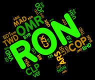 Ron Currency Represents Forex Trading And Currencies Stock Images