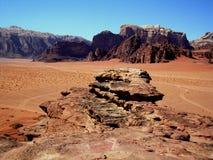 Ron del lecho de un río seco, Jordania Fotografía de archivo libre de regalías