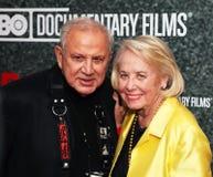Ron Galella e Liz Smith fotografie stock