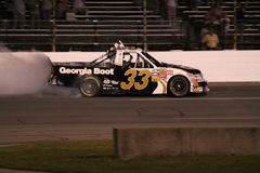 Ron Hornaday NASCAR Truck Series 33 Celebration Stock Image