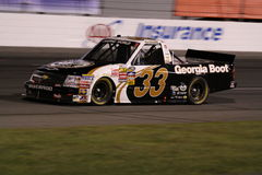 Ron Hornaday NASCAR Truck Series ORP 33 Night KHI Royalty Free Stock Photography