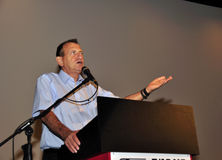 Ron Huldai borgmästare av Tel Aviv Yafo Arkivbild