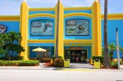Ron Jon Surf Shop Cocoa Beach Florida. Entrance to the colorful, iconic Ron Jon Surf Shop in Cocoa Beach, Florida, on a sunny day stock photography