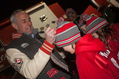 Ron Maclean Signing Autographs Photo stock