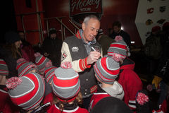 Ron Maclean Signing Autographs Royalty Free Stock Images