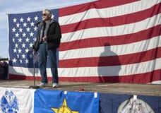 Ron Mendive at political rally. Stock Photos