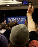 Ron Paul in Denver Stock Image