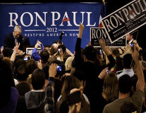 Ron Paul em Denver Fotos de Stock