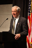 Ron Paul giving a speech Royalty Free Stock Photo