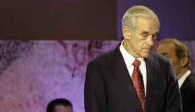 Ron Paul Hanover NH 2011 Royalty Free Stock Image