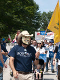 Ron Paul Supporter Stock Image