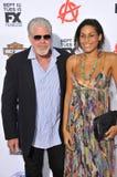 Ron Perlman & Blake Perlman stock foto