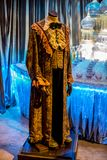 Ron Weasley Yule Ball Robe displayed at Warner Brothers Harry Potter Movie Studio Tour Stock Photos
