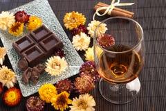 Ron y chocolate Foto de archivo libre de regalías