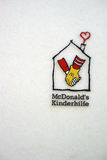Ronald Mc Donald House Mainz. Mainz, Germany - June 10, 2017: The facade and the logo of the Ronald Mc Donald house a children`s facility for disabled children royalty free stock photo