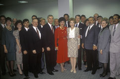 Ronald Reagan总统和里根夫人 免版税库存照片