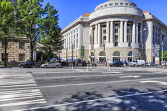 Ronald Reagan Building, Washington DC. The Ronald Reagan Building and International Trade Center, named after former United States President Ronald Reagan, is Stock Photos