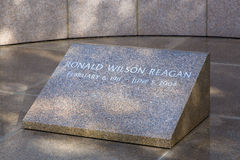 Ronald Reagan Headstone in Reagan Library royalty-vrije stock foto