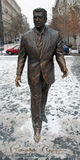 Ronald Reagan Statue in Budapest stockbild