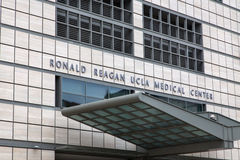 Ronald Reagan UCLA Medical Center. LOS ANGELES, CA/USA - MAY 25, 2015: Ronald Reagan UCLA Medical Center. The UCLA Medical Center is a hospital in Los Angeles Stock Images