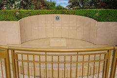 Ronald Reagan Tomb, Simi Valley, CA. Tomb of Ronald Reagan, 40th president of the United States, on the grounds of the Ronald Reagan Presidential Library in Simi Stock Images