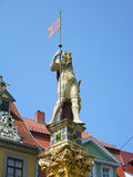 Ronald statue, central square of Erfurt, Germany Stock Photos