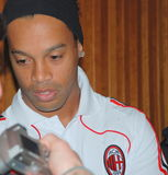 Ronaldinho de C.A. Milão fotografia de stock