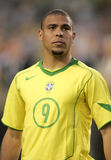 Ronaldo. Brazilian player Ronaldo on portrait before the friendly match between Catalonia vs Brazil at Nou Camp Stadium in Barcelona, Spain. May 25, 2004 Royalty Free Stock Image