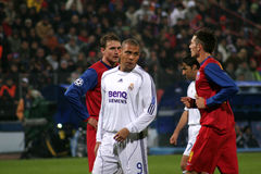 Ronaldo. Luis Nazario de Lima playing in Steaua Bucharest vs. Real Madrid match, Champions League Royalty Free Stock Image