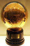 ronaldo d'or du football de c Photo stock