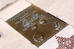 Ronaldo Luís Nazário de Lima 's footprints Royalty Free Stock Images