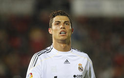 Ronaldo 012. Madrid soccer player cristiano ronaldo gestures after missing a chance to score a goal in a match in Majorca Stock Photo