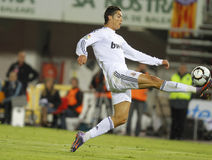 Ronaldo 027. Portuguese soccer player and Real Madrid main striker Cristiano Ronaldo controls the ball during a match held in Palma de Majorca Royalty Free Stock Photo