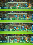 Ronaldos Zieltrittgeschichte Stockbilder