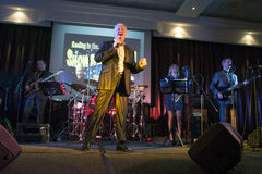 Ronan Collins backed by The Conquerors Showband Stock Photo