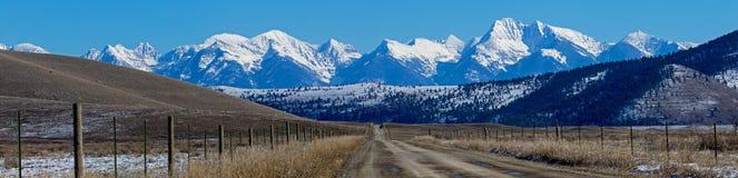 Ronan Cutoff and Mission Mountains Royalty Free Stock Photos